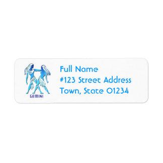 Gemini Return Address Mailing Label
