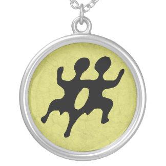 Gemini Round Pendant Necklace