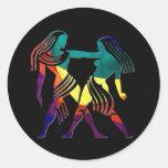 Gemini Round Stickers