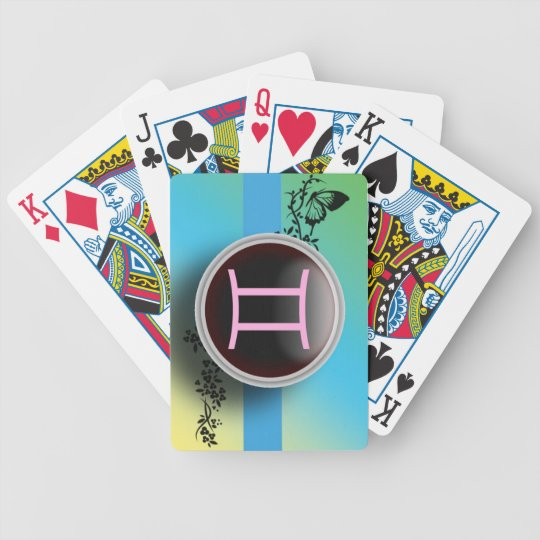 Gemini Sign Playing Cards