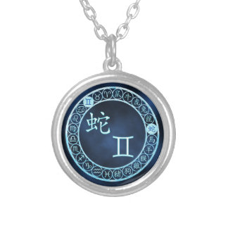 Gemini/Snake Silver Plated Necklace
