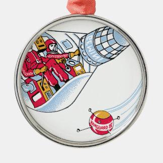 Gemini Space Capsule Round Metal Christmas Ornament