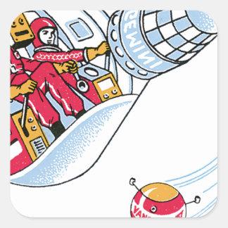 Gemini Space Capsule Square Sticker