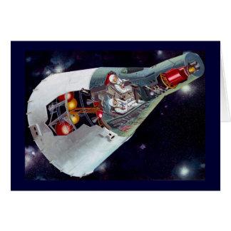 Gemini Spacecraft Cut-out Card