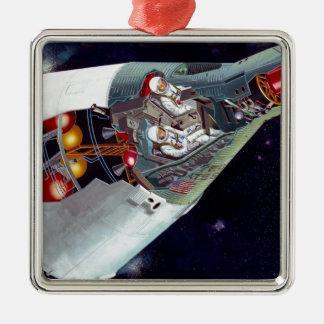 Gemini Spacecraft Cut-out Ornament