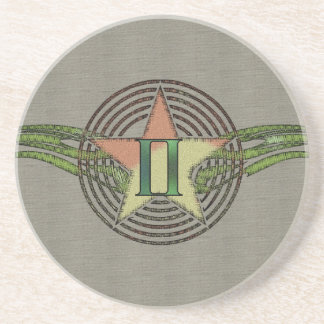 Gemini Star Beverage Coaster