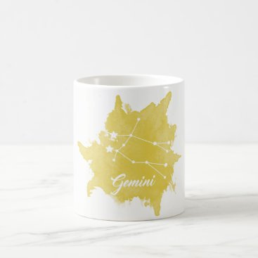 Coffee Themed Gemini Star Sign Coffee Mug