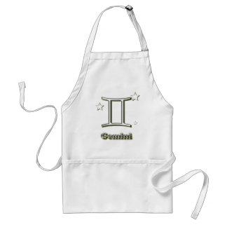 Gemini symbol adult apron