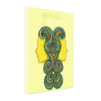 Gemini Symbol Canvas Print