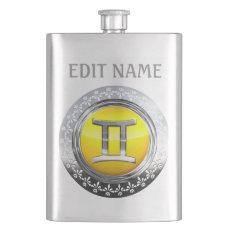 Gemini Symbol Flask
