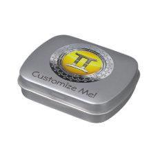 Gemini Symbol Jelly Belly Candy Tin