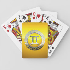 Gemini Symbol Playing Cards