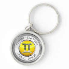 Gemini - The Twins Astrological Sign Keychain