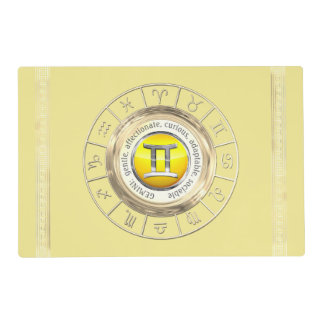 Gemini - The Twins Astrological Sign Placemat