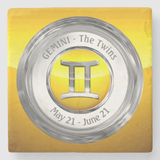 Gemini - The Twins Astrological Sign Stone Coaster