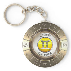 GEMINI - The Twins' Astrological Symbol Keychain