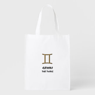 Gemini the twins reusable grocery bags
