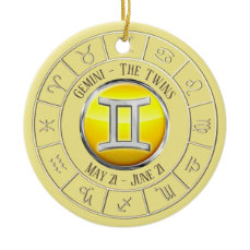 Gemini - The Twins Zodiac Sign Ceramic Ornament