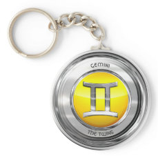 Gemini - The Twins Zodiac Sign Keychain