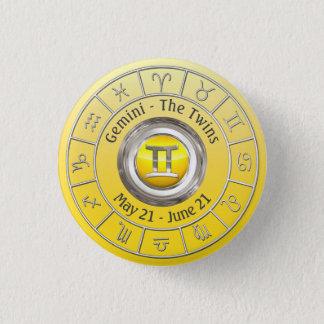 Gemini- The Twins Zodiac Sign Pinback Button