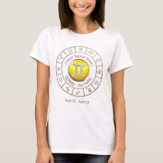 Gemini - The Twins Zodiac Sign T-Shirt