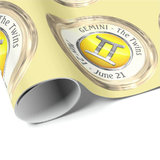 Gemini - The Twins Zodiac Sign Wrapping Paper