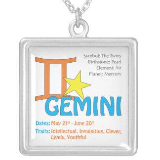 Gemini Traits Square Necklace