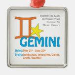 Gemini Traits Square Ornament