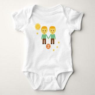 Gemini twin boys baby bodysuit - zodiac star sign