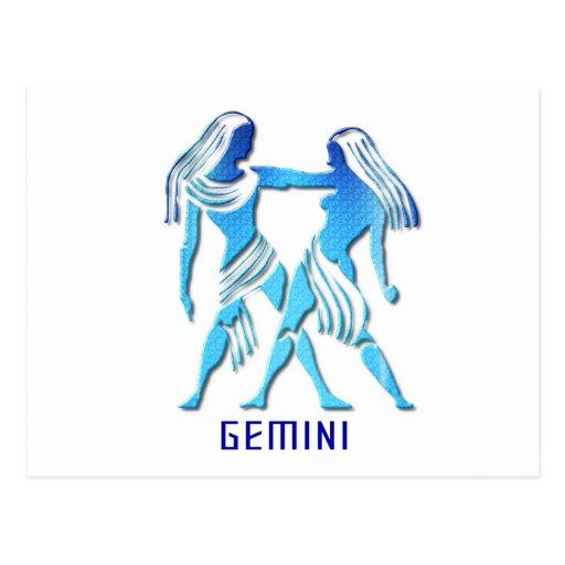 Gemini Twins Postcard