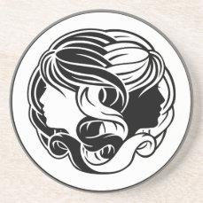 Gemini Twins Zodiac Horoscope Sign Coaster