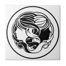 Gemini Twins Zodiac Horoscope Sign Tile
