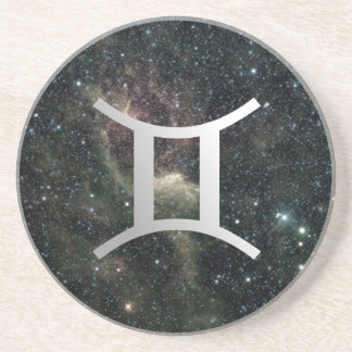Gemini Twins Zodiac Star Sign Universe Coaster