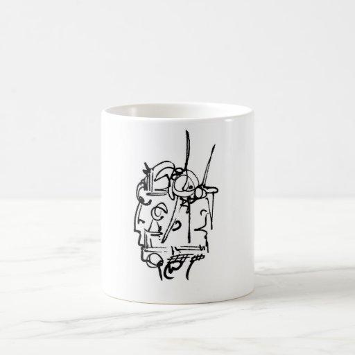 gemini  two face coffee mug