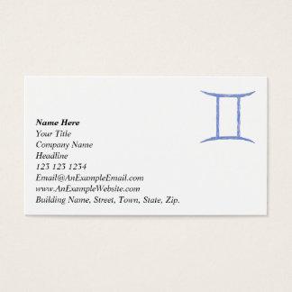 Gemini. Zodiac Astrology Sign. Business Card