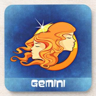 Gemini Zodiac Astrology Symbol Beverage Coaster