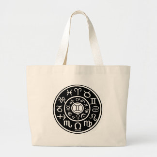 Gemini Zodiac Canvas Bag