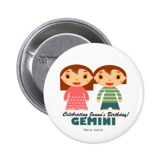 Gemini Zodiac for kids Pin
