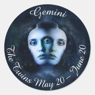 Gemini Zodiac Horoscope Mystical Twins Sticker