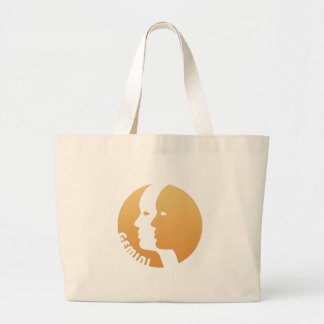 Gemini Zodiac Sign Canvas Bags