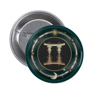 Gemini Zodiac Sign Buttons