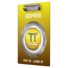 Gemini Zodiac Sign Clipboard