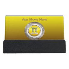 Gemini Zodiac Sign Desk Business Card Holder