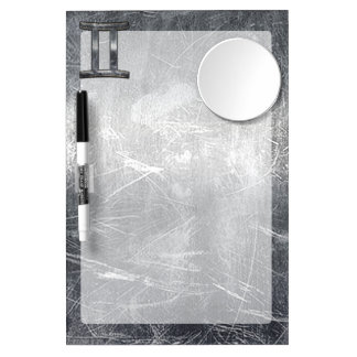 Gemini Zodiac Sign in Industrial Steel Style Dry Erase Board With Mirror