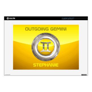 Gemini Zodiac Sign Laptop Decals