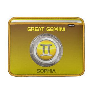 Gemini Zodiac Sign MacBook Air Sleeve