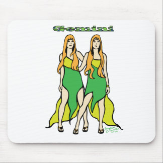 Gemini Zodiac Sign Mouse Pad