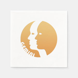 Gemini Zodiac Sign Napkin
