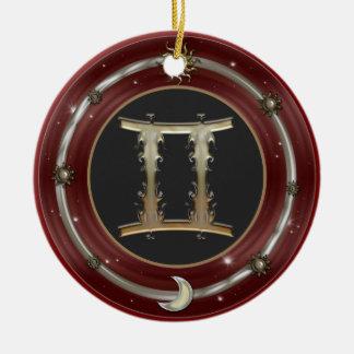 Gemini Zodiac Sign Ornament