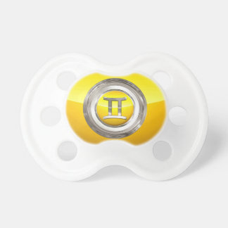 Gemini Zodiac Sign Pacifier